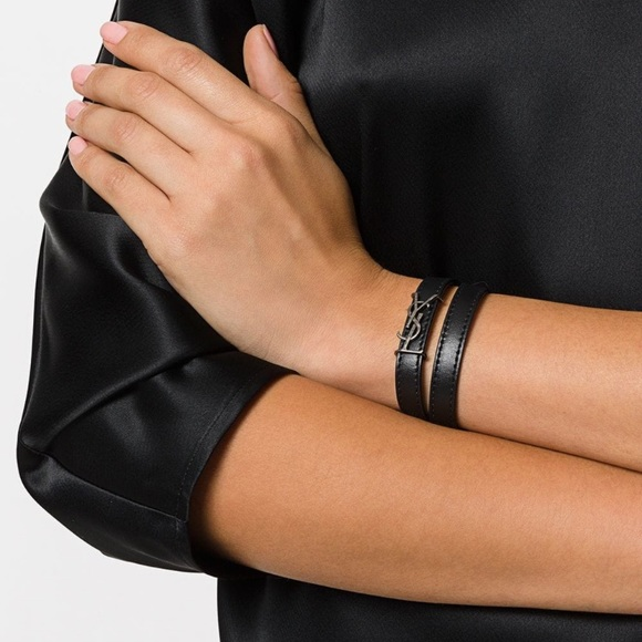 82beccb3c3 YSL double wrap leather bracelet NWT